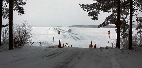 Kolin jäätie   Koli - Vuonislahti, Lieksa - Pohjoiskarjala.com